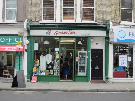 Geranium shop in Fulham