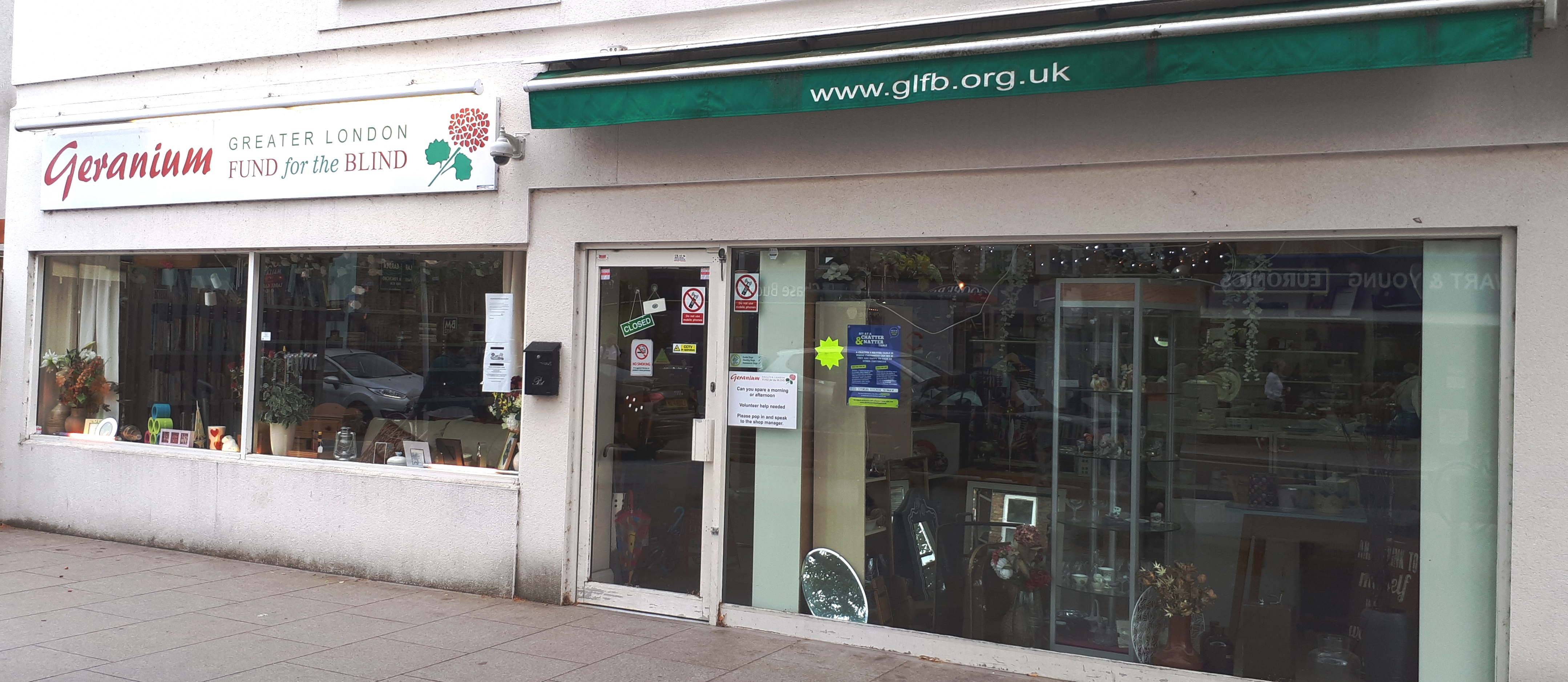 GLFB charity shop Hampton Hill