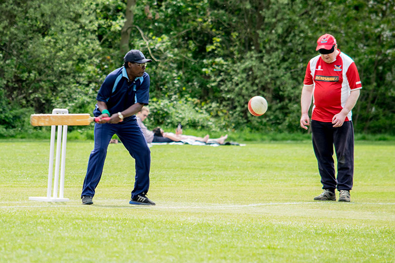 Visual Impairment Cricket by GLFB funding recipient Metro Blind Sport