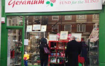 GLFB charity shop on Kensington High Street