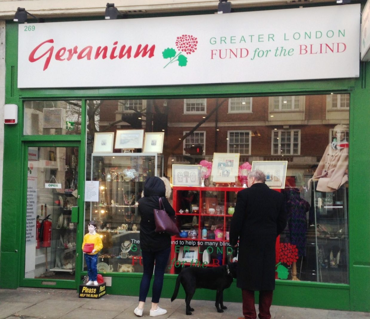 GLFB charity shop on Kensington High Street