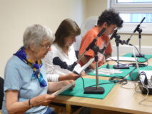 Talking News Islington - live recording session funded by the GLFB