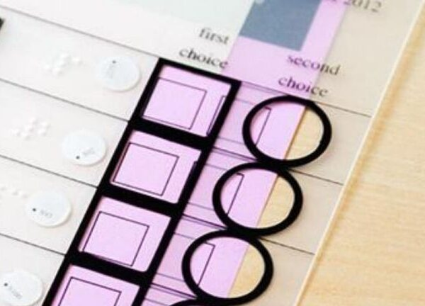 close up of a tactical voting device