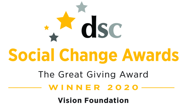 DSC Social Change awards - Vision Foundation winner 2020