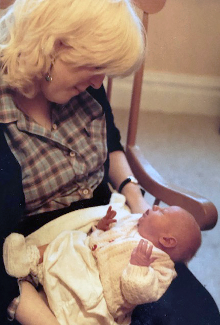 Anna and her grandson, baby Frank