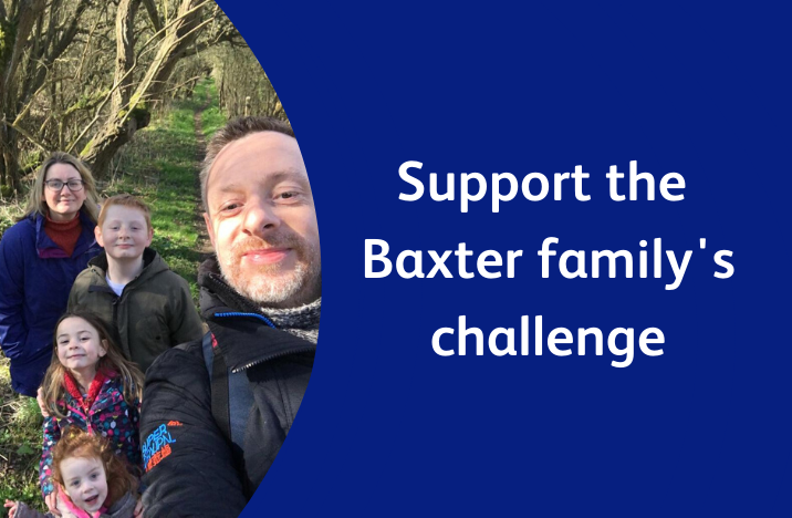 Button reads 'Support the Baxter family's challenge'
