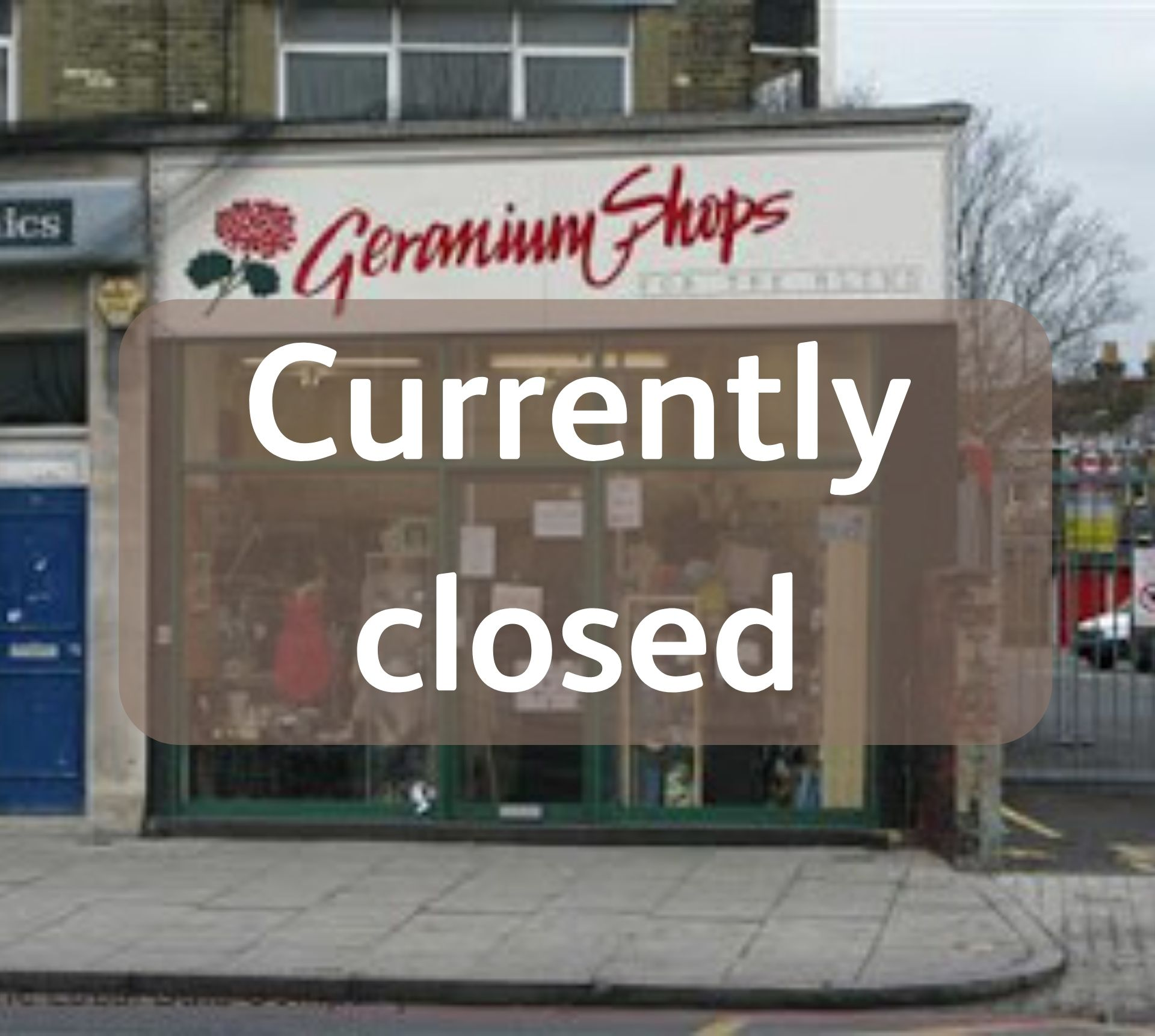 Lee Green shop external view- with caption, Currently Closed