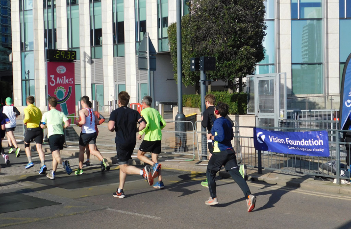 Team Vision Foundation runners at the Vitality big half marathon