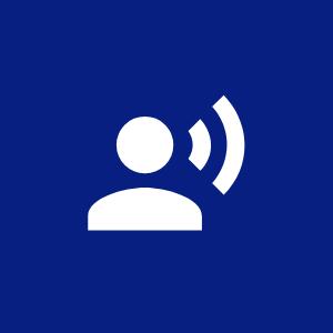 Speaking person icon