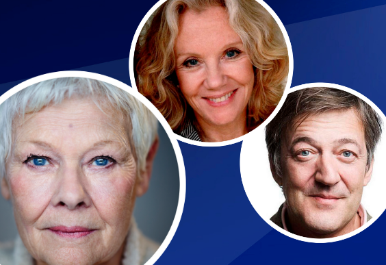 Image features Dame Judi Dench, Hayley Mills and Stephen Fry