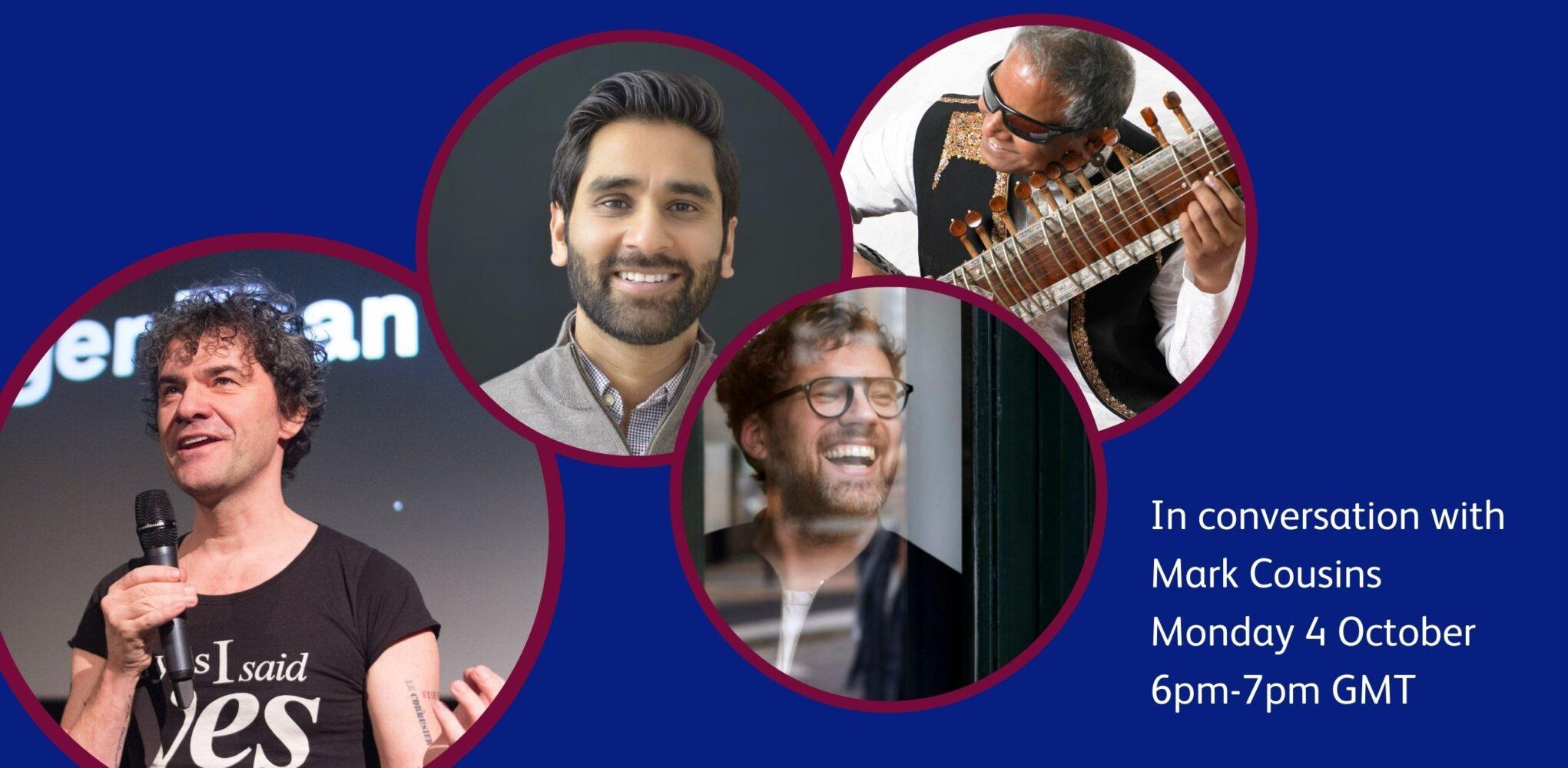 Mark Cousins, Dr Amit Patel, Bujali Shrivastav and Tom Boughton